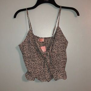 BRAND NEW showpo black and white dotted top
